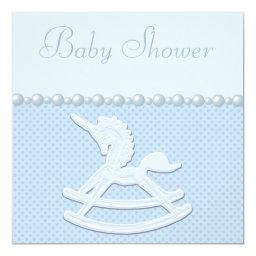 Rocking Horse Unicorn & Flowers Baby Boy Shower