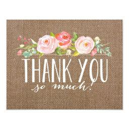 Rose Banner Burlap |  Thank You