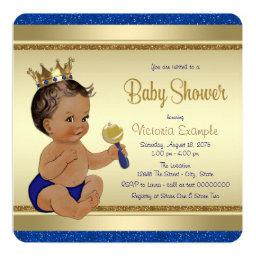 Royal Baby Boy Blue Gold Ethnic Prince