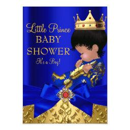 Royal Blue Prince Boy Baby Shower African American