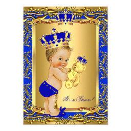 Royal Blue Prince Crown  Bear Blonde