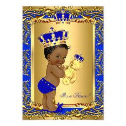 Royal Blue Prince Crown  Bear Ethnic