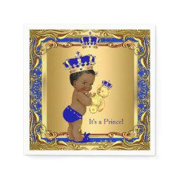 Royal Blue Prince Gold Crown  Ethnic Paper Napkin