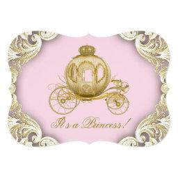 Royal Carriage Pink and Gold Princess