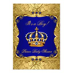 Royal Navy Blue Gold Crown
