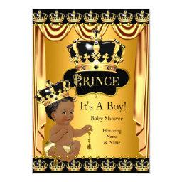 Royal Prince  Black Gold Ethnic Boy