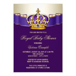 Royal Purple Gold Princess Baby Shower