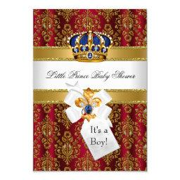 Royal Red Blue Little Prince Crown