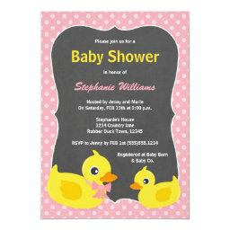 Rubber Ducky Baby Shower  Pink & Yellow