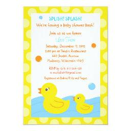 Rubber Ducky Duck Neutral Baby Shower