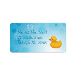Rubber Ducky Label