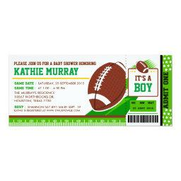Rugby FootBall Ticket Pass