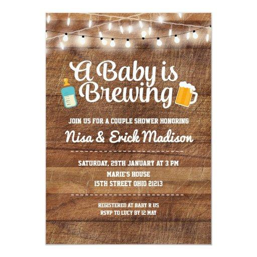 Rustic a baby is brewing  for boy