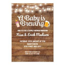 Rustic a baby is brewing  for girl