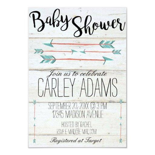 Rustic Adorned with Arrows  Invite