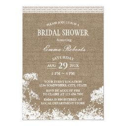 Rustic Baby's Breath Burlap Wedding Baby Shower