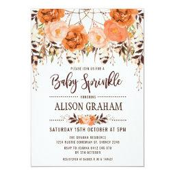 Rustic Boho Floral Autumn Baby Sprinkle