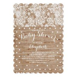Rustic Burlap Lace Neutral