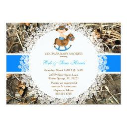 Rustic Country Vintage Camo  Invite