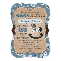 Rustic Cowboy Western Rocking Horse Baby Shower