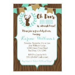 Rustic Deer Baby Shower , Deer Invite