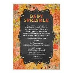Rustic Fall Leaves Baby Sprinkle / baby shower