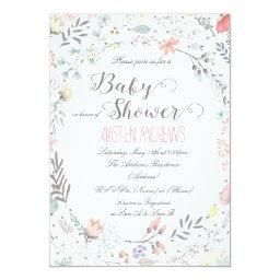 Rustic Floral Baby Shower  II