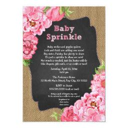 Rustic Girl Pink Floral  Invites