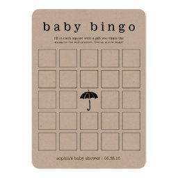 Rustic Kraft Baby Shower Double-Sided Game