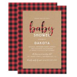 Rustic Kraft & Buffalo Plaid Script