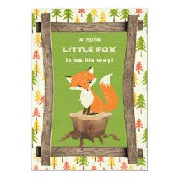 Rustic Little Fox Boy Baby Shower