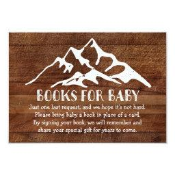 Rustic Mountain - Books for Baby Insert Card