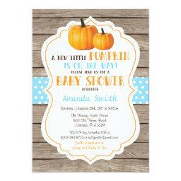 Rustic Pumpkin Fall Boy Baby Shower