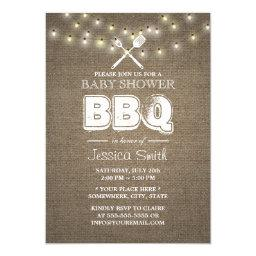 Rustic String Lights Burlap BBQ
