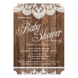 Rustic Wood and Lace Baby Shower