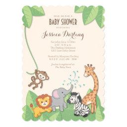Safari Jungle Animals Modern Baby Shower
