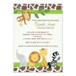 Safari Jungle Baby Boy Shower