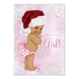 Santa Hat Baby Girl Winter Wonderland Baby Shower