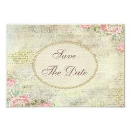 Shabby Chic Roses  Save the Date
