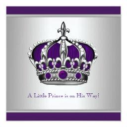 Silver and Purple Crown Little Prince