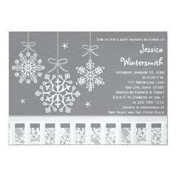 Silver Snowflake Mobile Baby Shower