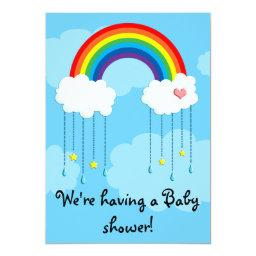 Simple rainbow baby shower