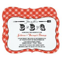 Simple Red Gingham BBQ