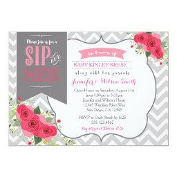 Sip and See Baby Girl Shower  Pink