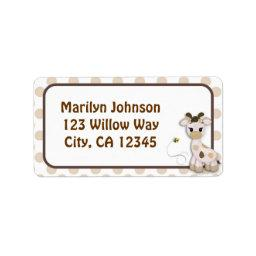 Snickerdoodle Giraffe & Bee Address Label Labels