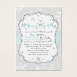 Snowflakes Owl Banner Bring a Book