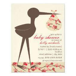 Sophisticated Stork Cherry Blossom Baby Shower