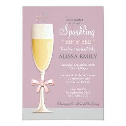 Sparkling New Baby Girl Sip and See