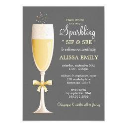 Sparkling New Baby Sip and See in Gray | Yellow