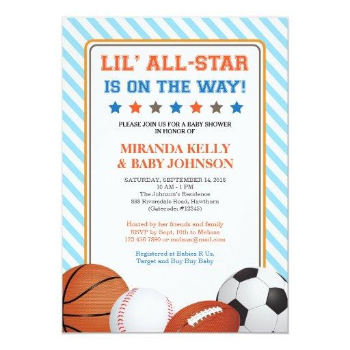 Sports  Invitation, All Star Sports